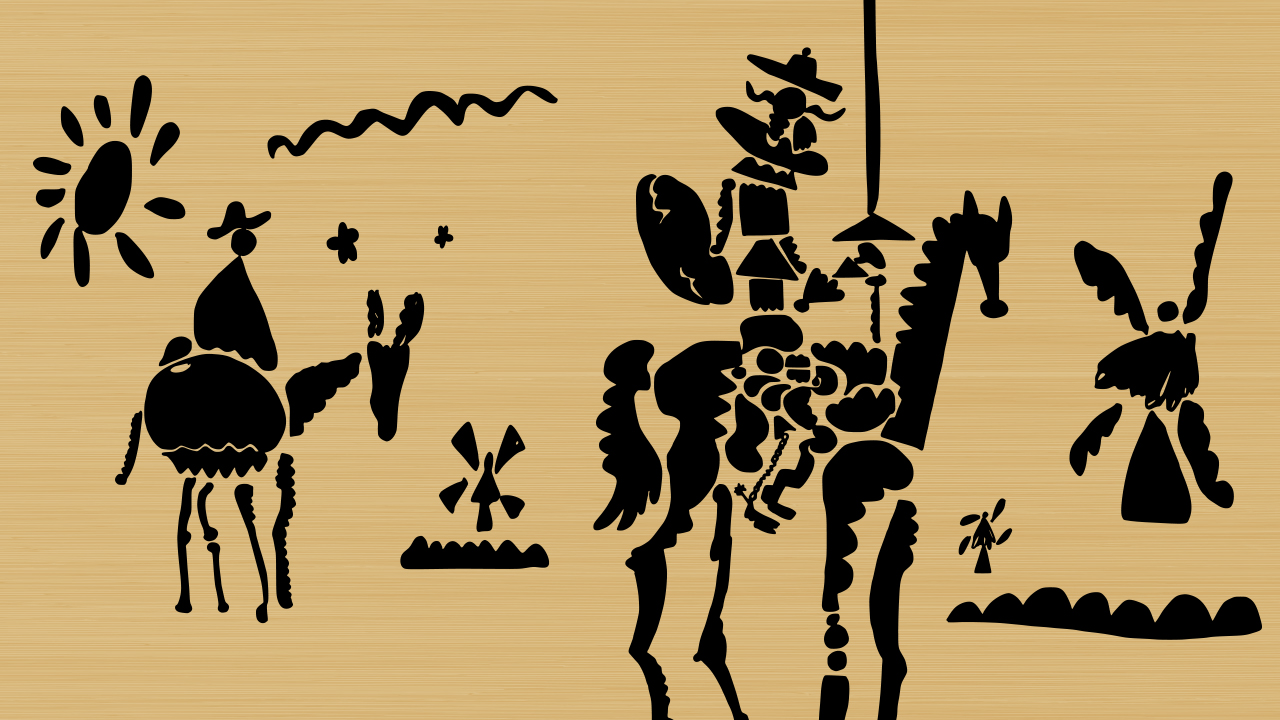 in defense of spanglish common reader schematic representation of don quixote and his squire