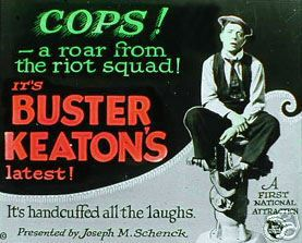 "Movie poster for Buster Keaton's ""Cops"""