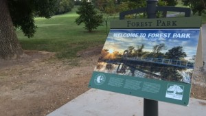St. Louis's Forest Park: The distinction between entry markers and gates is not always academic.