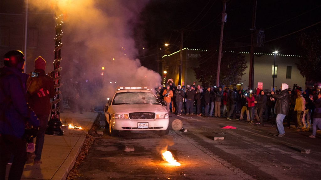 The Streets of Ferguson, late November 2014. (Credit: Greenz Productions)