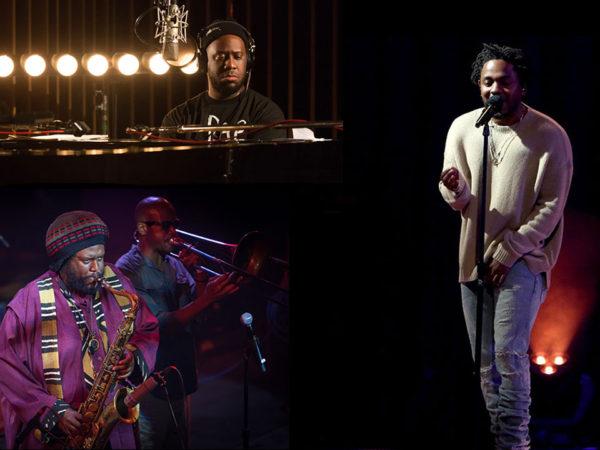 Left to right:  Robert Glasper, Kendrick Lamar, Kasmasi Washington